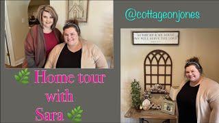 🌿 HOME TOUR WITH SARA 🌿/FARMHOUSE/DECORATING ON A BUDGET