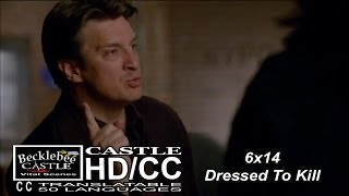 "Castle 6x14  ""Dressed To Kill"" Castle and His Theories (HD/CC)"
