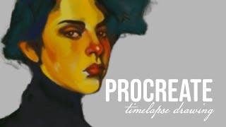 PROCREATE TIMELAPSE DRAWING | Referencing Malcolm T Liepke ((Laura Chaland))