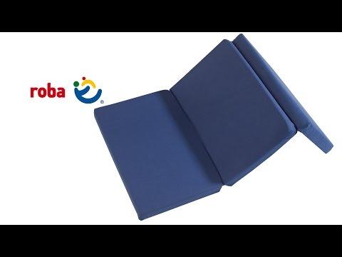 0269 Reisebettmatratze blau