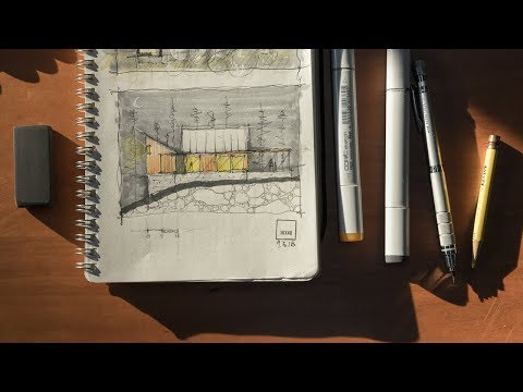 Inside My Sketchbook + An Architect's Sketching Tools