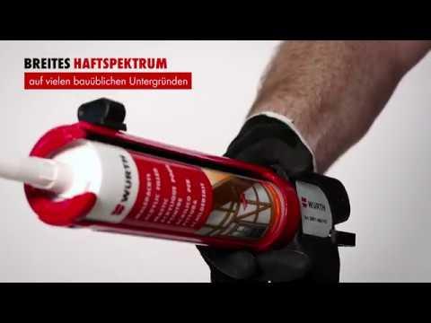 Qualitäts-Maleracryl/ Acryldichtstoff in Weiß für innen & außen von Würth