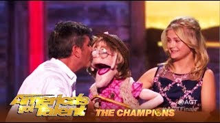 Darci Lynne SHIPS Simon Cowell & Edna The Puppet! | AGT Champions