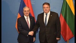 Foreign Minister Zohrab Mnatsakanyan arrives in Lithuania on an official visit