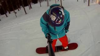 """Snowboarding 101: How To """"S"""" In A Day (2/5) Beginner Tutorial  - J-Turns"""