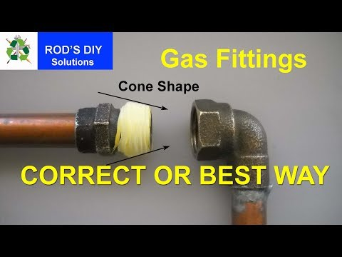 The Best Way to Wrap PTFE Tape On Gas Fittings