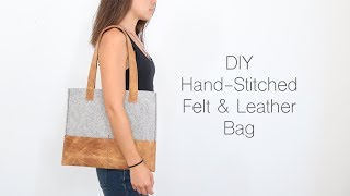 DIY Felt And Leather Bag