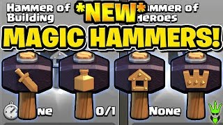 """HOW TO USE THE *NEW* MAGIC HAMMERS! - """"Clash of Clans"""""""
