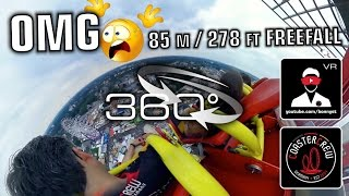 360° Hangover The Tower - Gyro Freefall Tower 360 video on-ride Cranger Kirmes 360° VR Experience