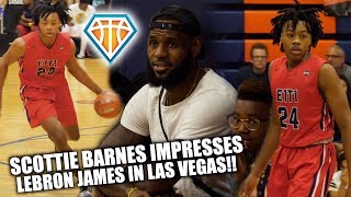 6'8 Scottie Barnes DROPPIN' DIMES LIKE A DAMN POINT GUARD!! | Impresses LEBRON JAMES Out in Vegas