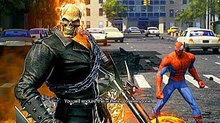 Ghost Rider Saves Spider-Man From Giant Monster Symbiote Scene HD - Marvel Vs Capcom Infinite