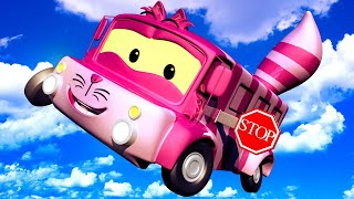 АВТОБУС Лили - ЧЕШИРСКИЙ КОТ из Алисы в Стране Чудес! - Автомобильный Город 🎨 детский мультфильм