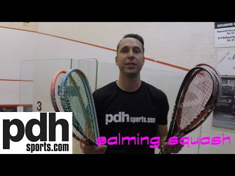 In depth review of the Salming 2016 squash racket range by PDHSports.com