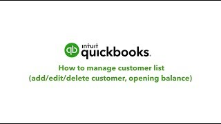 How to Manage Customer Lists (Add/Edit/Delete Customers) in QuickBooks Online   South Africa