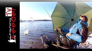 Рыбалка на фидер зимой по открытой воде