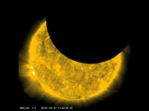 SDO observes its first lunar transit