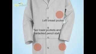 Red Kap Uniforms - RE-KP14GY 41.5 Inch Mens Five Button Lab Coat