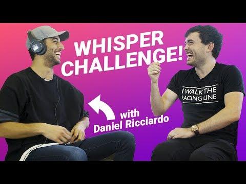 Hilarious Whisper Challenge with Daniel Ricciardo