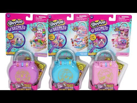 0ba3cad9aec Shopkins Lil Secrets Secret Lock Unboxing Review Donut Stop