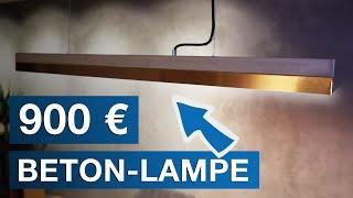 [900 €] TEURE Beton Lampe im Büro + Lichtkonzept