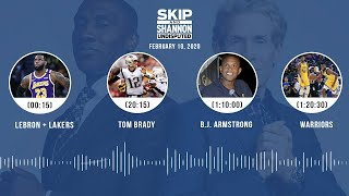 LeBron + Lakers, Tom Brady, B.J. Armstrong, Warriors (2.10.20)   UNDISPUTED Audio Podcast