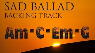 Sad Slow Instrumental Guitar Ballad Backing Track A Minor