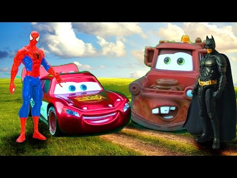 Disney Pixar Cars Lightning McQueen And Tow Mater's Costume AMAZING DISCOVERY! - Kids Movie The Cars