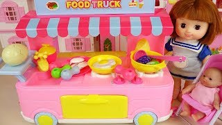 Baby doll food car kitchen play baby Doli house