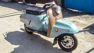 Капсула времени: НОВЫЙ мотороллер «Тулица» 1983 года Тула Турист