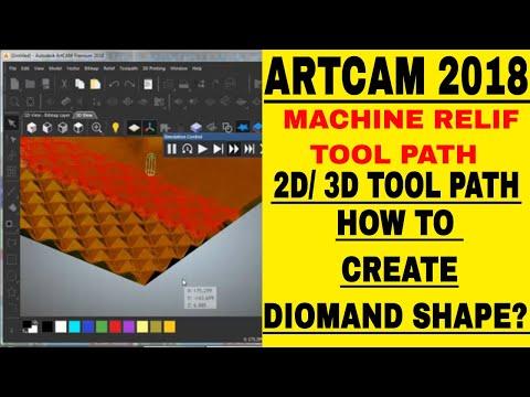 How To create 3D toolpath in ArtCam9pro in Hindi - смотреть