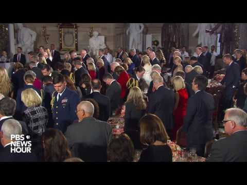 House Chaplain Conroy delivers benediction at inaugural luncheon