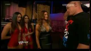 WWE Raw 02/14/12 Eve torres wants to use John Cena and cries for him