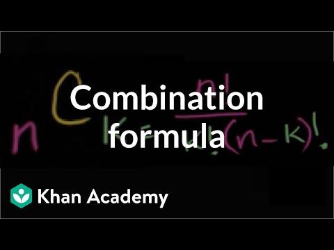 , title : 'Combination formula   Probability and combinatorics   Probability and Statistics   Khan Academy