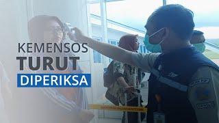 Kemenkes Lakukan Pengecekan Suhu di Bandara Djalaluddin Gorontalo, Rombongan Kemensos Turut Dicek