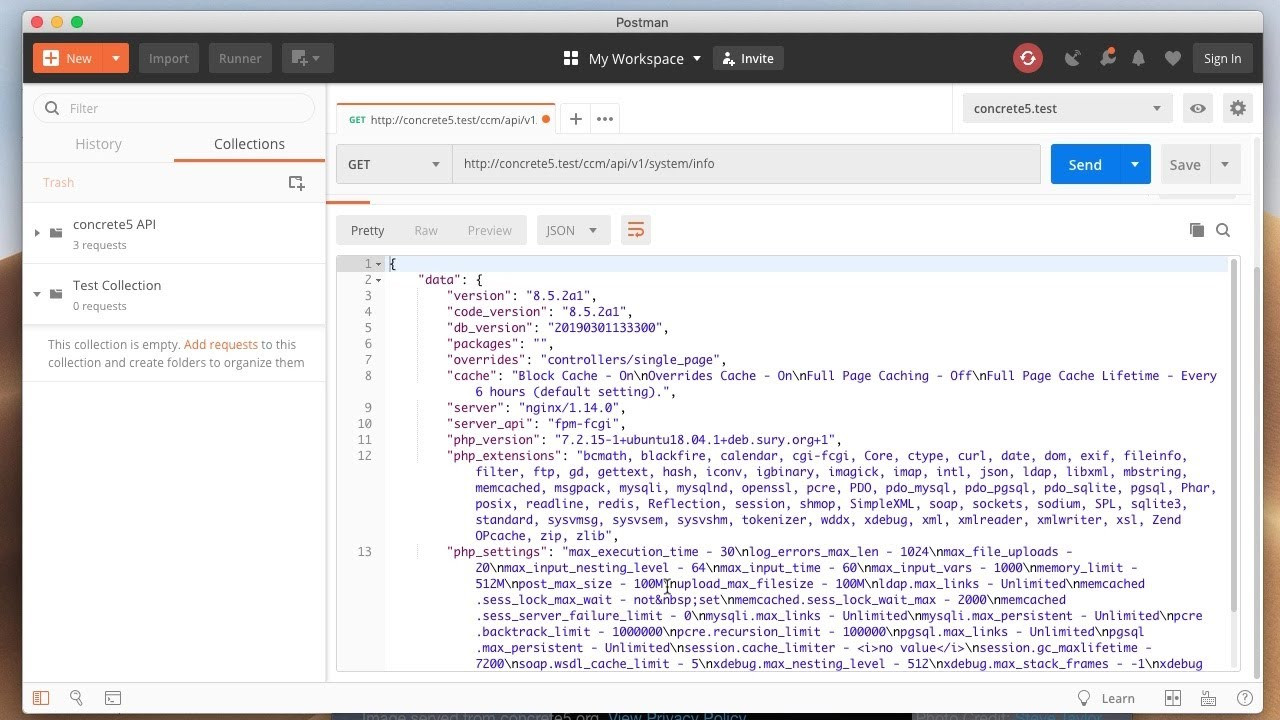 Learn how to enable the concrete5 REST API, and run sample commands on it using Postman