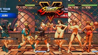 Street Fighter V AE Cammy/Laura/Juri vs Chun Li/Sakura/Menat PC Mod