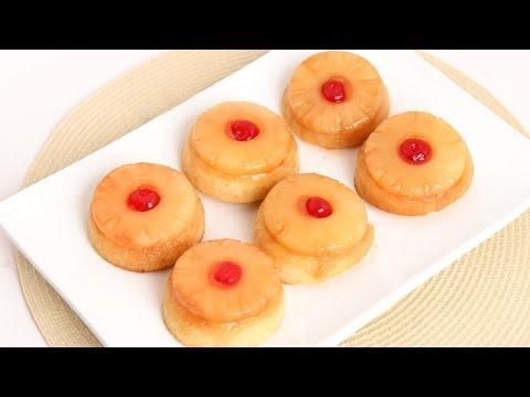 Mini Pineapple Upside Down Cakes Recipe – Laura Vitale – Laura in the Kitchen Episode 771