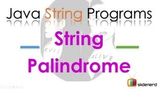 91 Java String Palindrome Program |