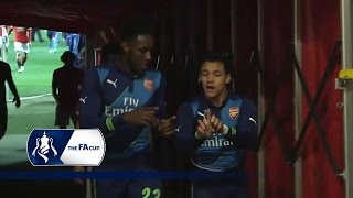 Man Utd 12 Arsenal  Tunnel Cam FA Cup 6th Round  Inside Access
