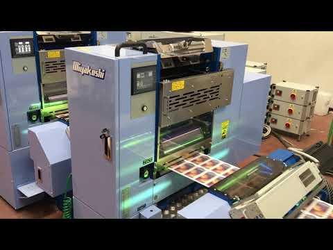 Miyakoshi MLP, semi-rotativa offset UV para impresión etiquetas