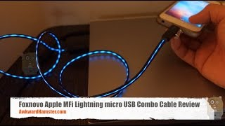 Foxnovo Apple MFi Lightning micro USB Combo Cable Review