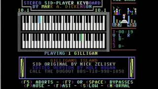"""Gilligan's Island Theme"" Commodore 64 Stereo Sid Player Keyboard"