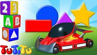 TuTiTu Preschool | Learning Shapes for Babies and Toddlers | Race Cars