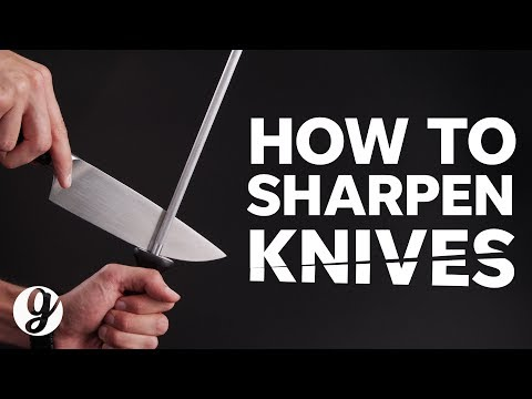 Sharpening Knives with Honing Steel and Whetstones