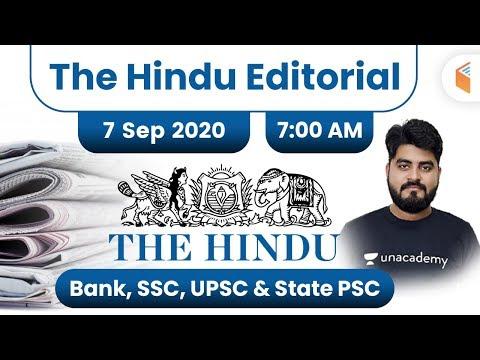 7:00 AM - The Hindu Editorial Analysis by Vishal Parihar | 7 September 2020 | The Hindu Analysis