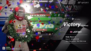 JOT381 GRAN TURISMO SPORT 230918 TOKYO EXPRESS NISSAN GT-R 1st to 1st ONLINE RACE 10 LAPS 779th WIN