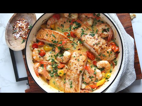 My Favorite Shrimp & Salmon With Creamy Sauce