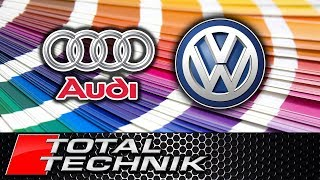 Where to Find Audi VW Volkswagen Paint Colour Color Code - ALL MODELS - TOTAL TECHNIK