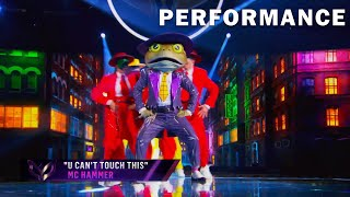 """Frog sings """"U Can't Touch This"""" by MC Hammer 