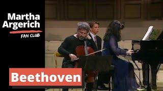Martha Argerich & Mischa Maisky - Beethoven Sonata for cello and piano Op.102 No.2